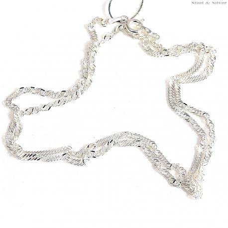 Łańcuszek srebrny skręcany