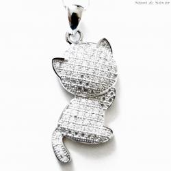 Wisiorek srebrny kot