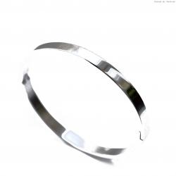Bransoletka stalowa owalna gładka