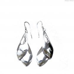 Kolczyki srebrne wiszące łezka