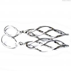 Kolczyki srebrne wiszące skręcone