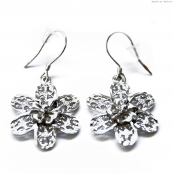 Kolczyki srebrne kwiat