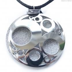 Naszyjnik stalowy błyszczący okrągły